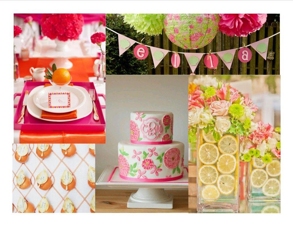 a vivid lilly pulitzer inspiration board for your bridal shower wedding details atlanta wedding planner