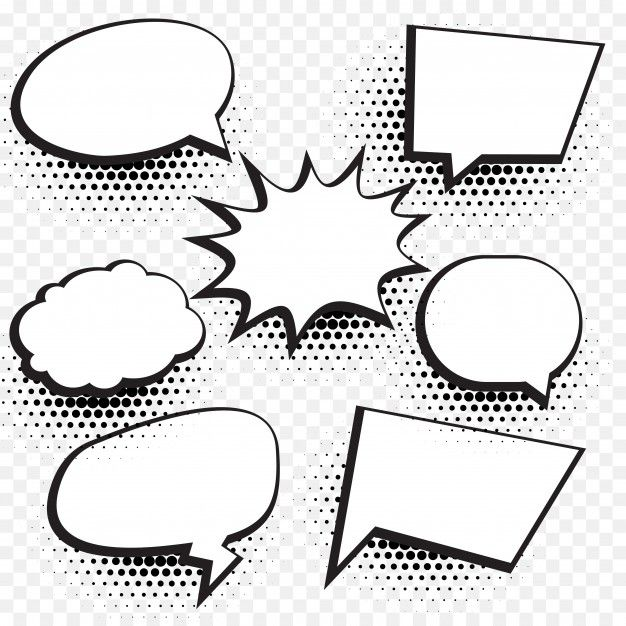 Download Speech Bubbles With Halftone Dots for free