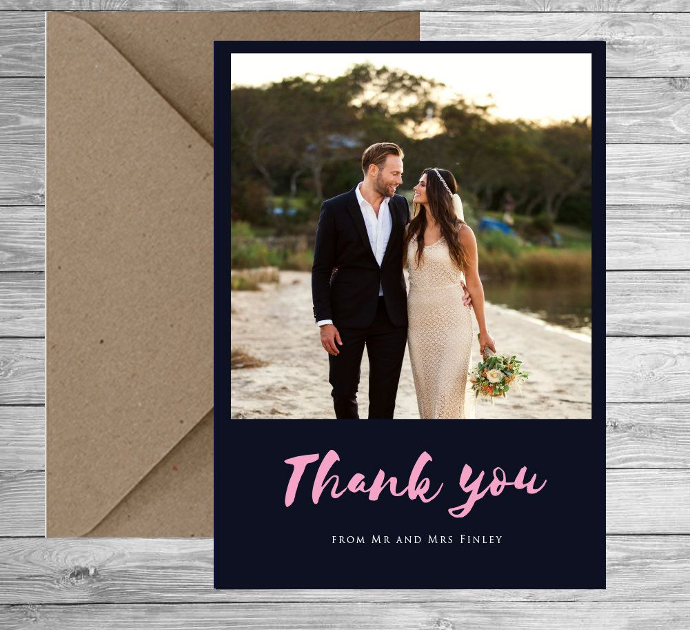 Rustic Wedding Thank You Cards