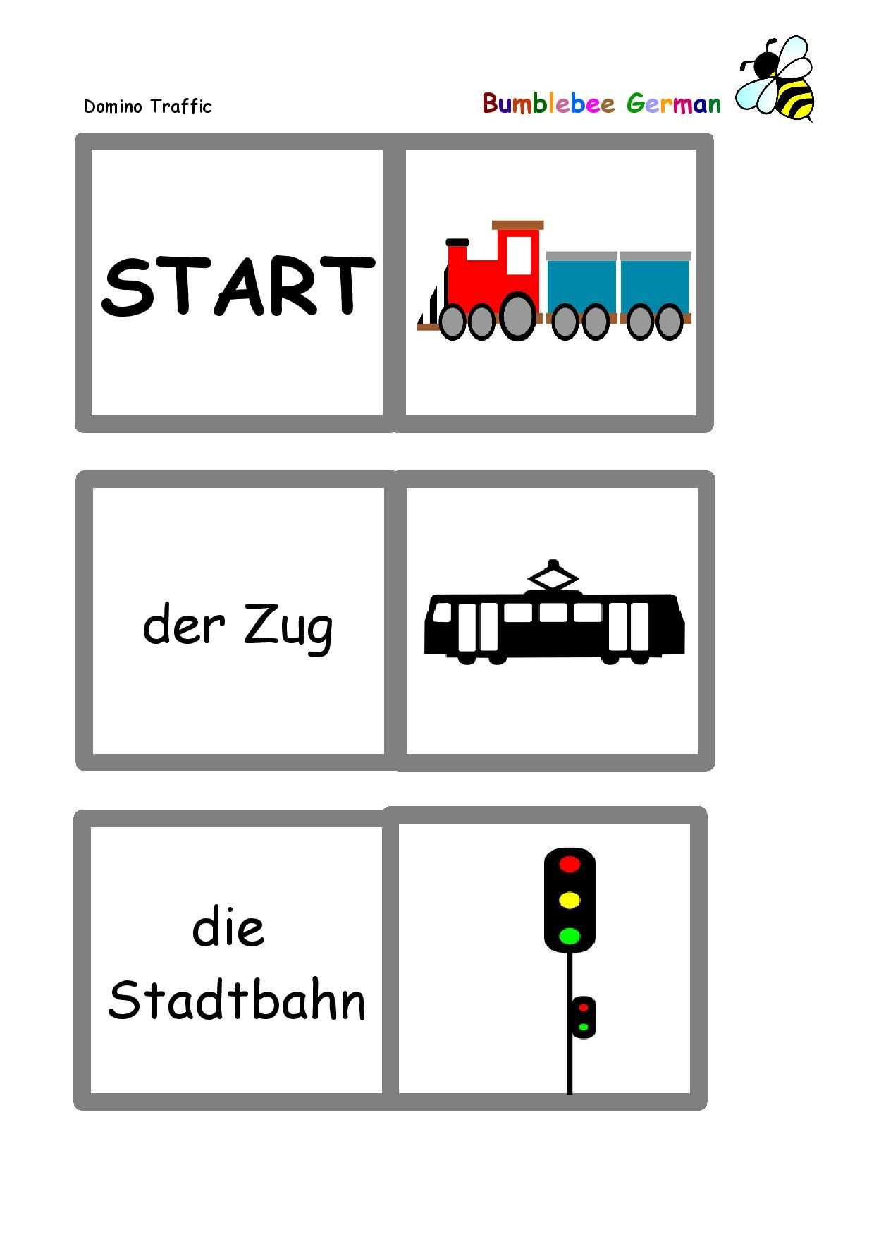 Traffic German Worksheet
