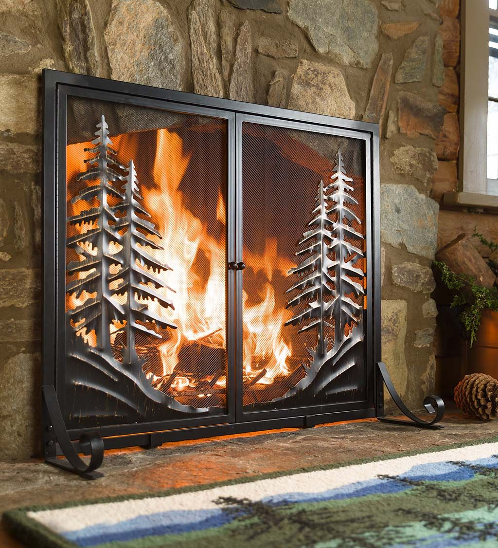 fireplace screens and doors. Alpine Fireplace Screen With Doors Brings The Peace And Tranquility Of Mountains To Your Hearth Screens L