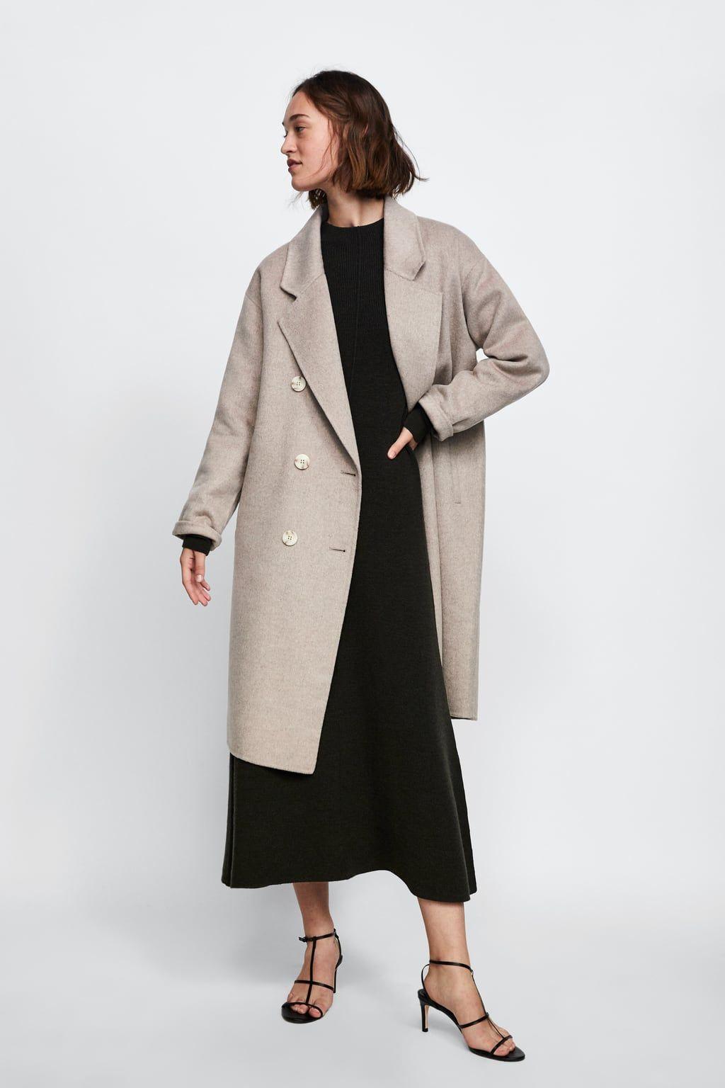 Image 1 de MANTEAU À BOUTONNAGE CROISÉ de Zara   Whislist clothes ... c59815bc324
