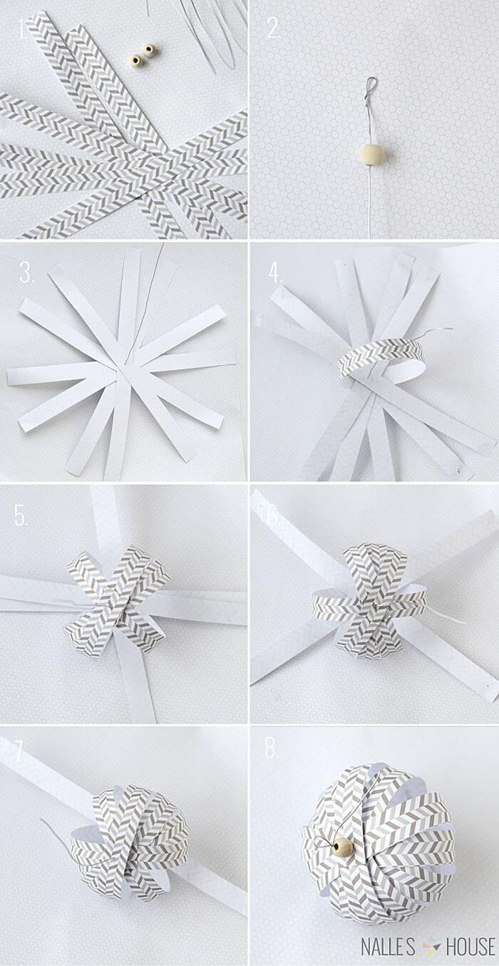 Gewaltig Weihnachtsdeko Aus Papier Sammlung Von Diy Weihnachtsbaum-schmuck Ideen Papier, Selber Basteln, Weihnachtskugel