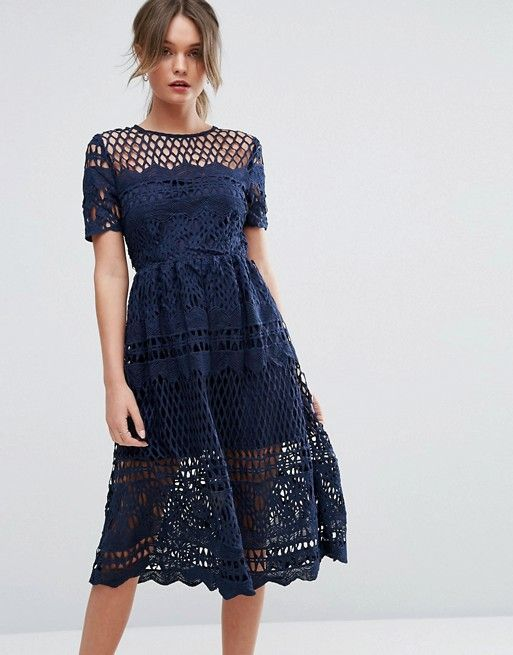 c8137c9ba197 Boohoo Corded Lace Paneled Skater Dress | Fashion | Dresses, Skater ...