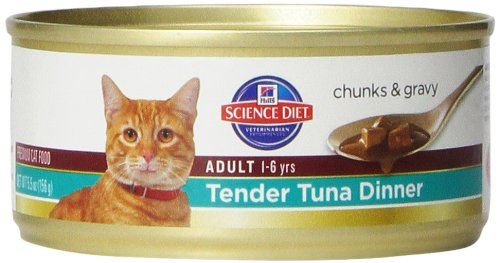 hill s science diet adult tender tuna dinner chunks and gravy cat food can 5 5