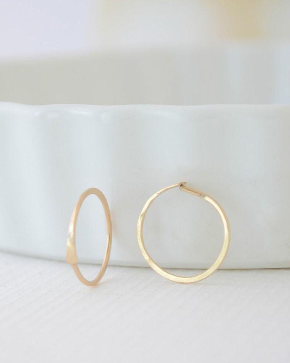 Tiny Gold Hoop Earrings - JewelMint