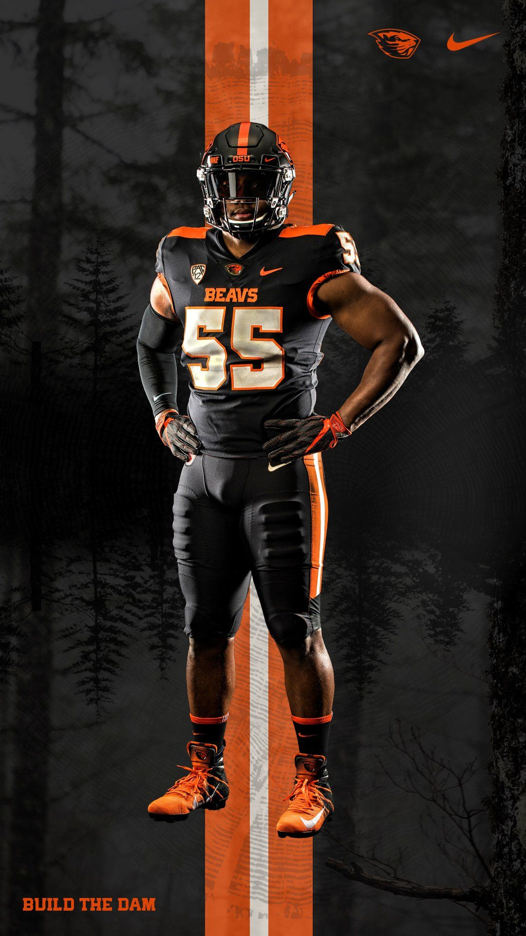 2019 Oregon State University Beavers Football Uniforms Black On Black Football Outfits Football Poses Oregon Ducks