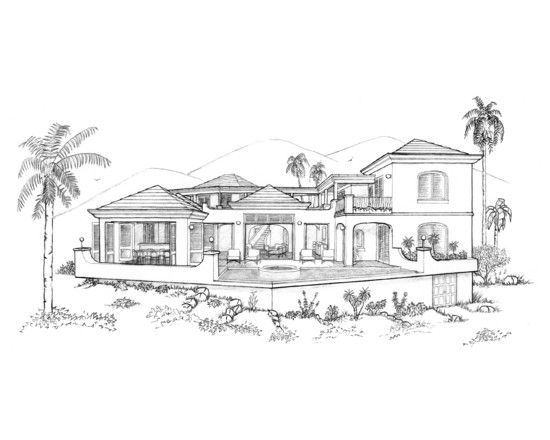 Sketches Of Modern Houses Google Search Things To Draw