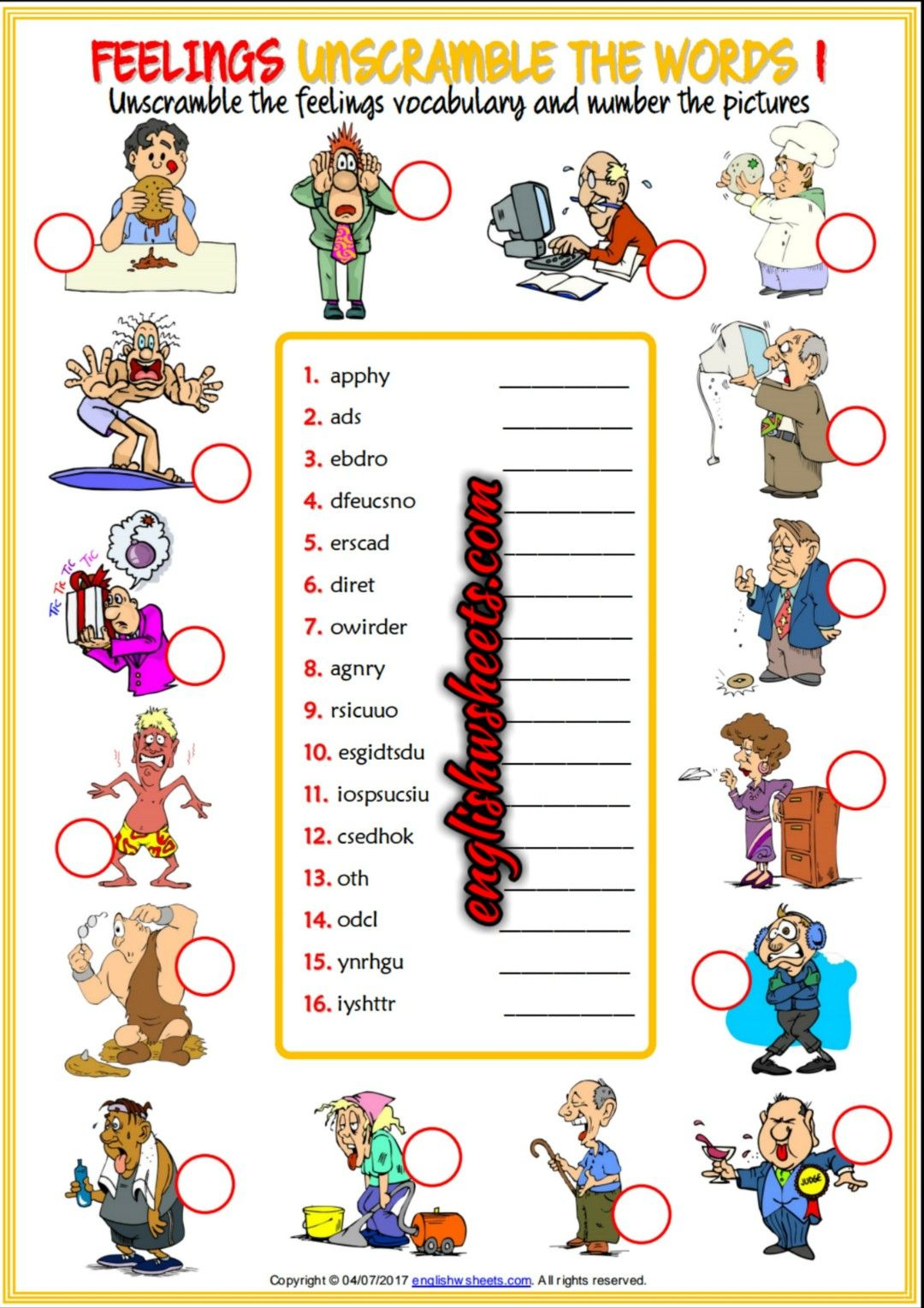 An Enjoyable Unscrambling The Words Esl Printable