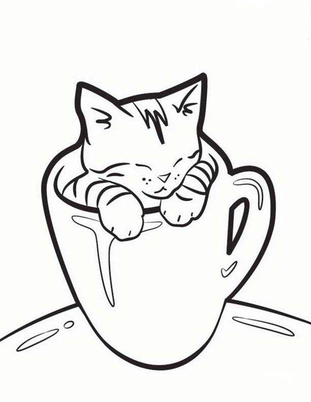 A10d73cdb50a93b74ad13f8f0ebd2194 Jpg 1000 1293 Cat Coloring Book Kittens Coloring Kitten Drawing
