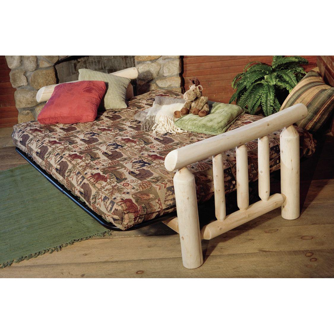 Log Futon Bed Home Decor