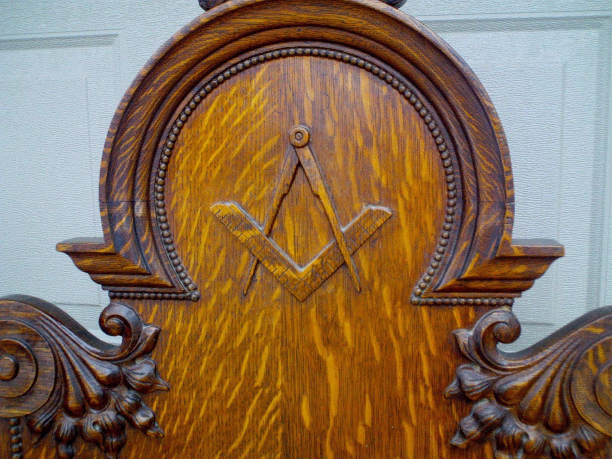 antique gothic ornate carved oak masonic chair for sale antiques antique gothic ornate carved oak masonic