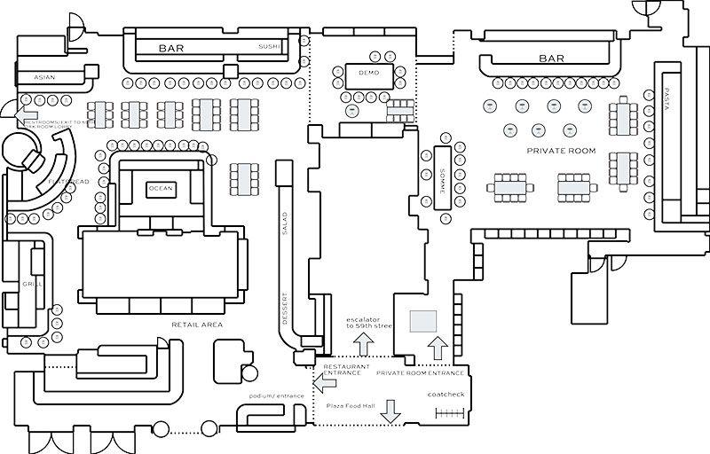 image result for food hall floor plan