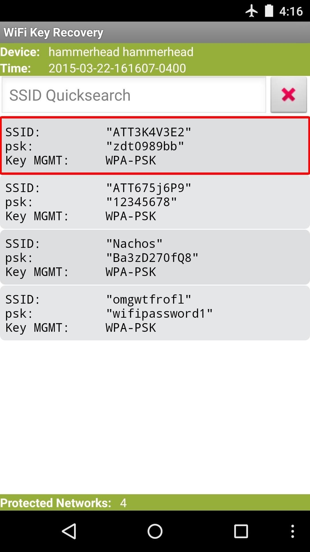 Wifi passwords are used widely to secure wireless networks