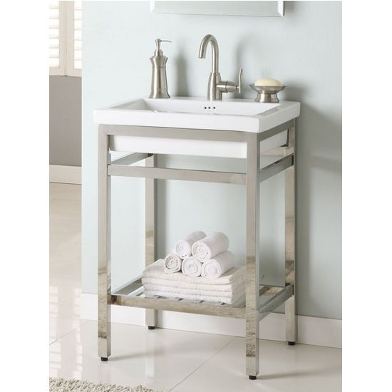 Make Photo Gallery This stainless steel South Beach Vanity Console by Empire measures inch wide and is available