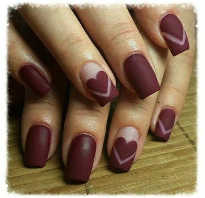 decoracion-uñas-diseño-simple-pero-muy-elegante-con-corazones ...