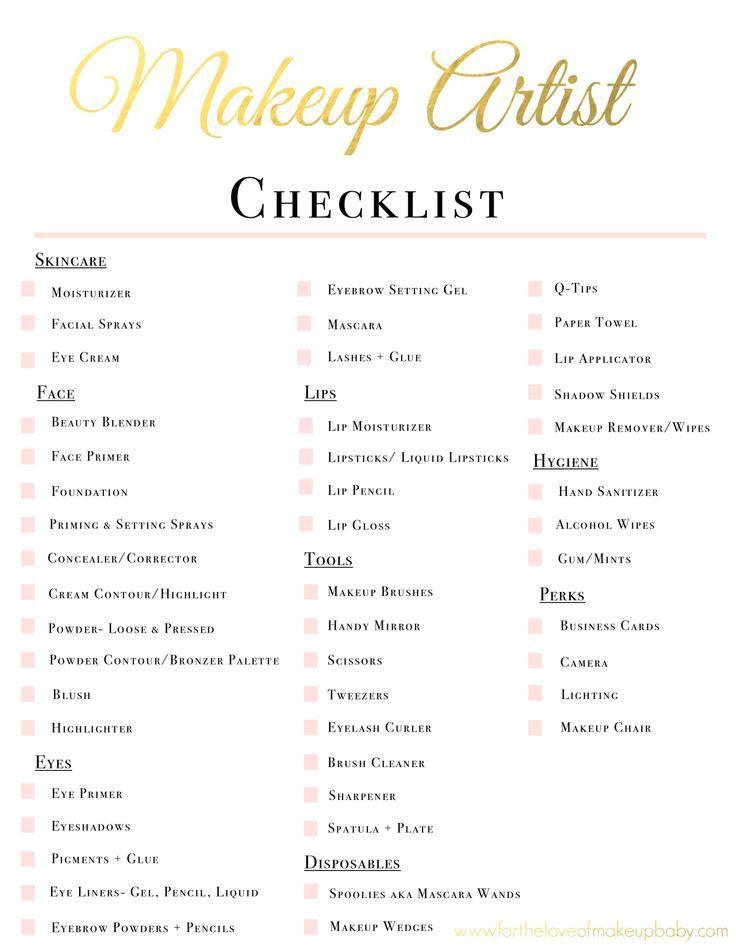 Makeup List For Makeup Artist - Mugeek Vidalondon makeup ideas - makeup artist resumes