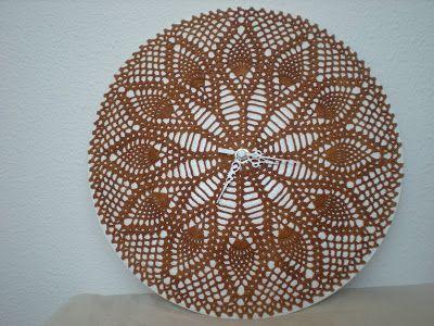 365 Crochet Pineapple Wall Clock Free Crochet Pattern Click On