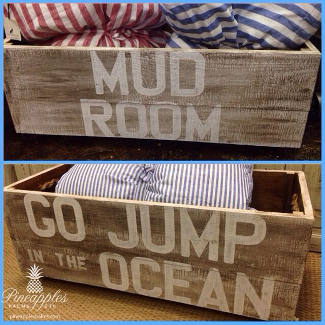 Wooden Storage Crates Available At Pineapples, Palms, Etc. In Jupiter, Fl