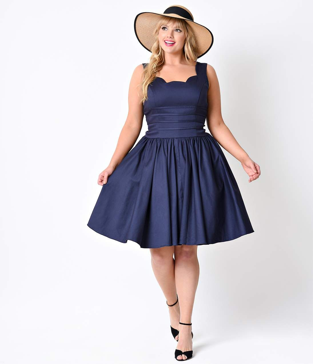 1950s Plus Size Dresses Clothing