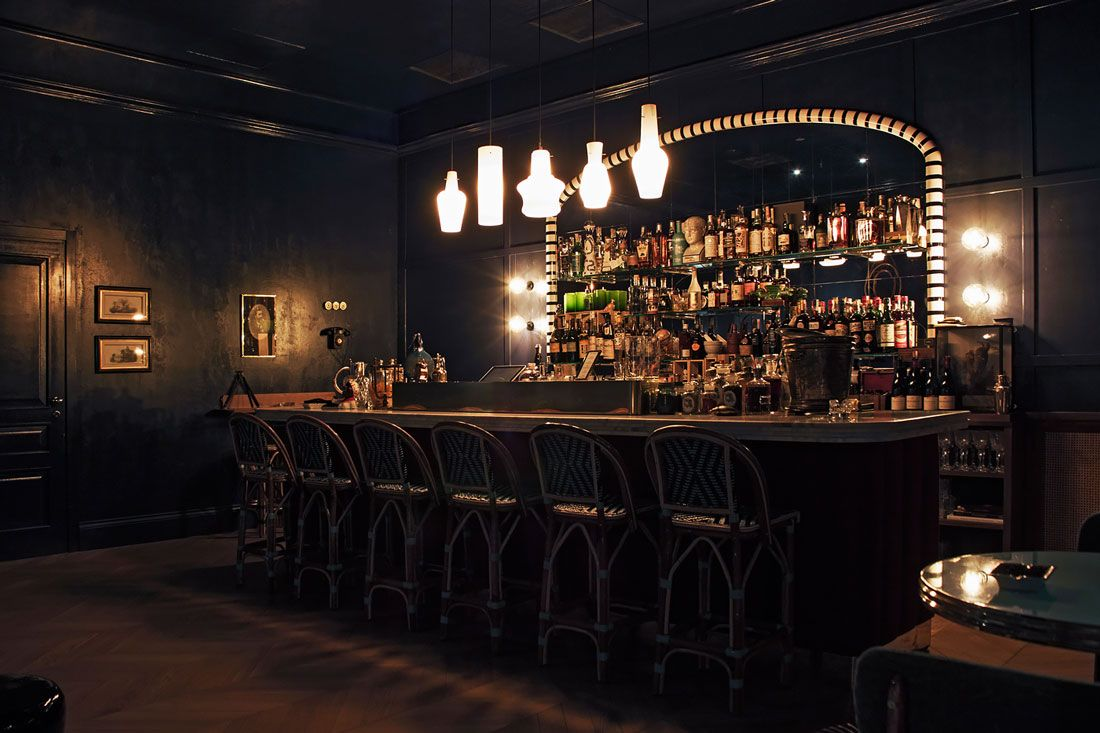 this moody cocktail bar in udine feels like a secret hideout