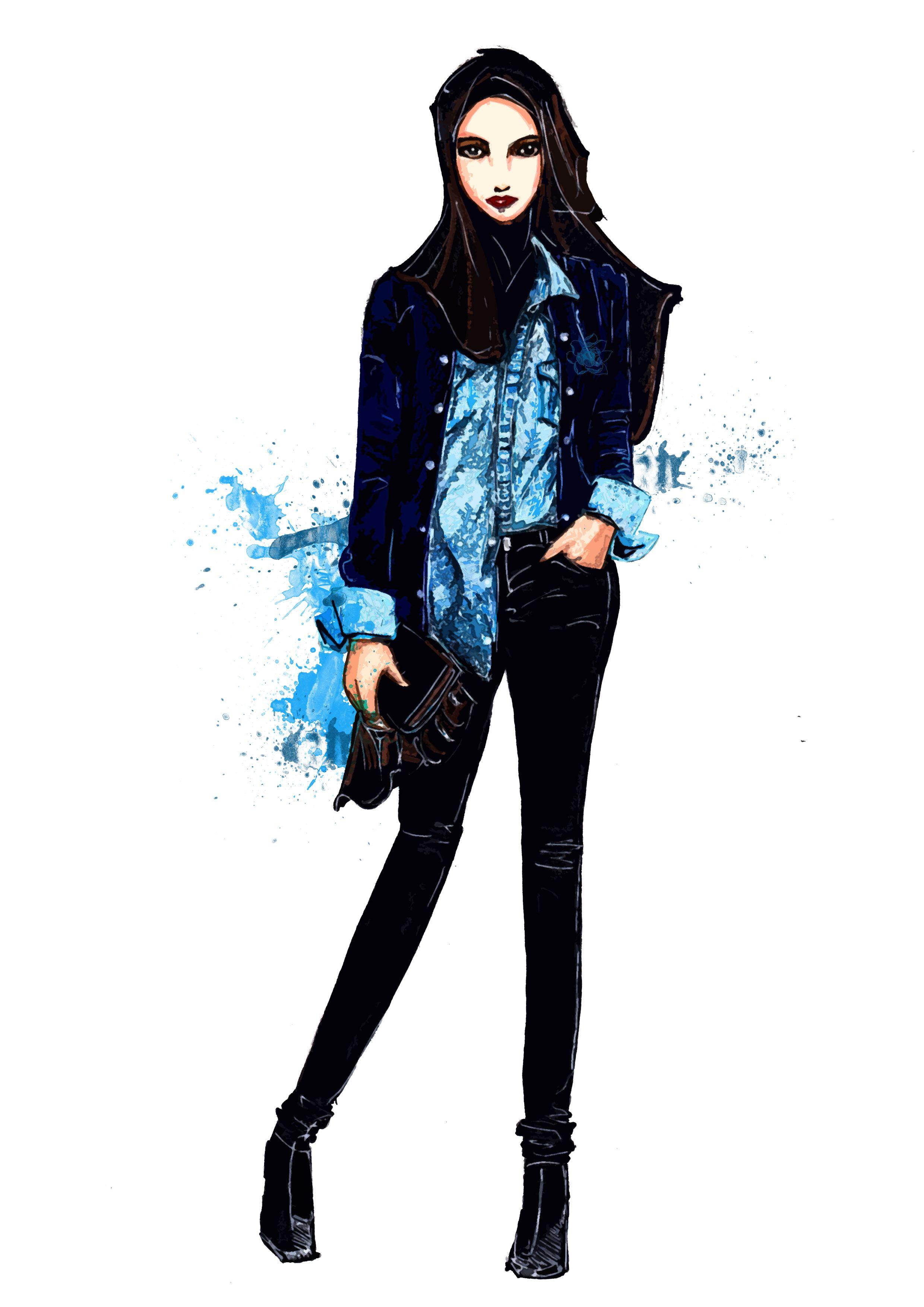sketches hijab fashion casual