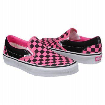 Vans Classic Slip-On Shoes (Black/Pink