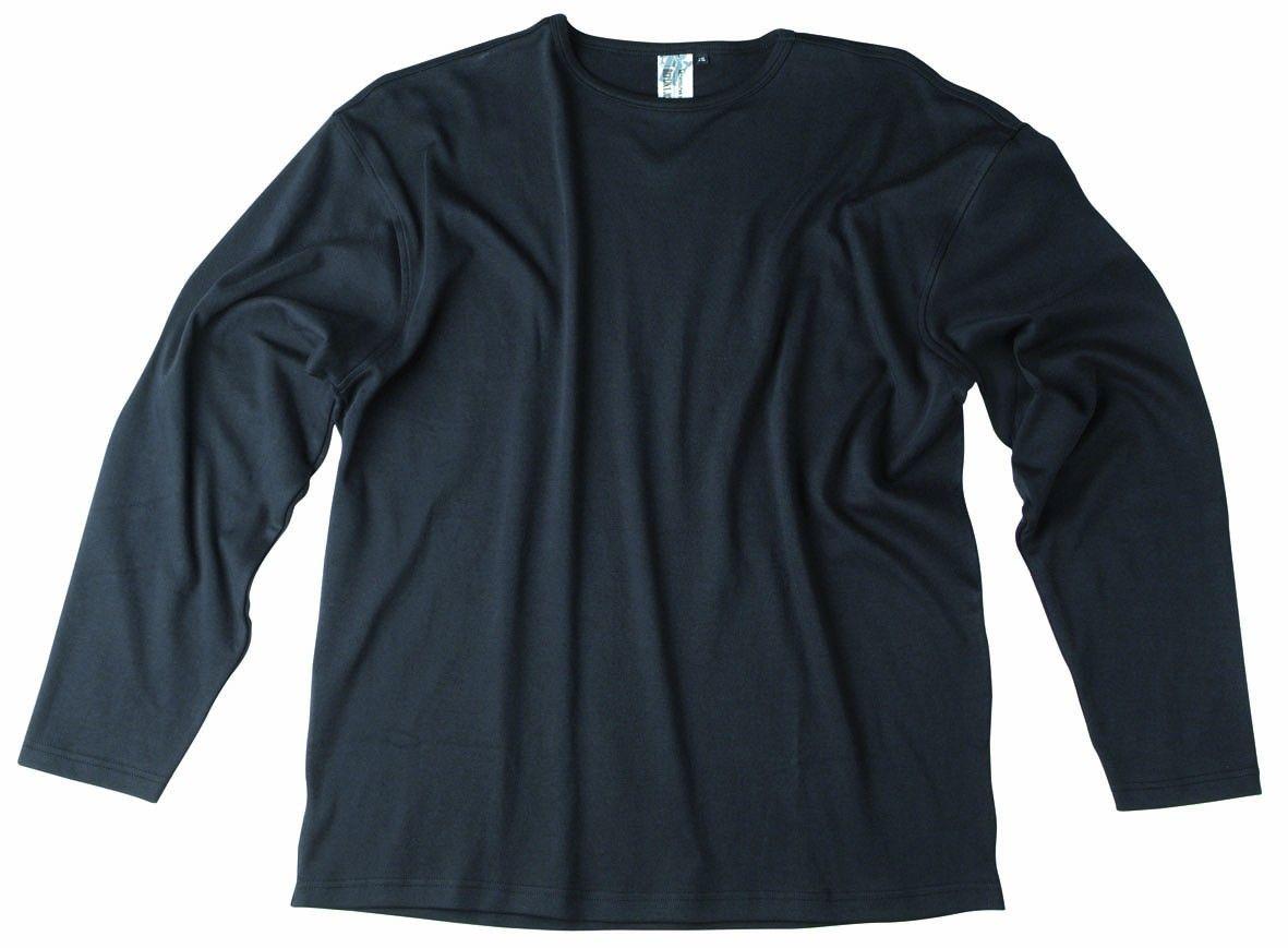 c6302070caef Tee-shirt manches longues 100 % coton Coloris Noir Col rond ras du cou  Tissu agréable sur la peau Allsize vous propose ce tee-shirt grande  taillepour homme ...