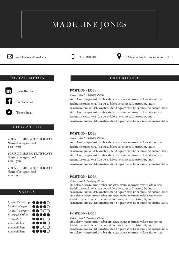 Resume and cover letter template Microsoft by ...