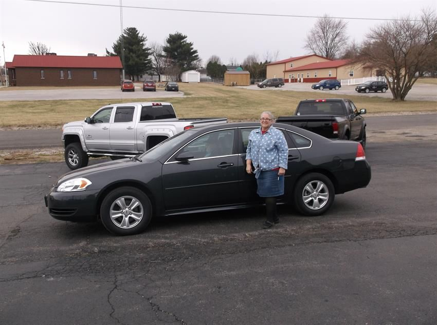 Kay Jones of Highland and her new 2013 CHEVROLET IMPALA! Congratulations and best wishes from Hosick Motors, Inc. and Sales Pro Brian Major.