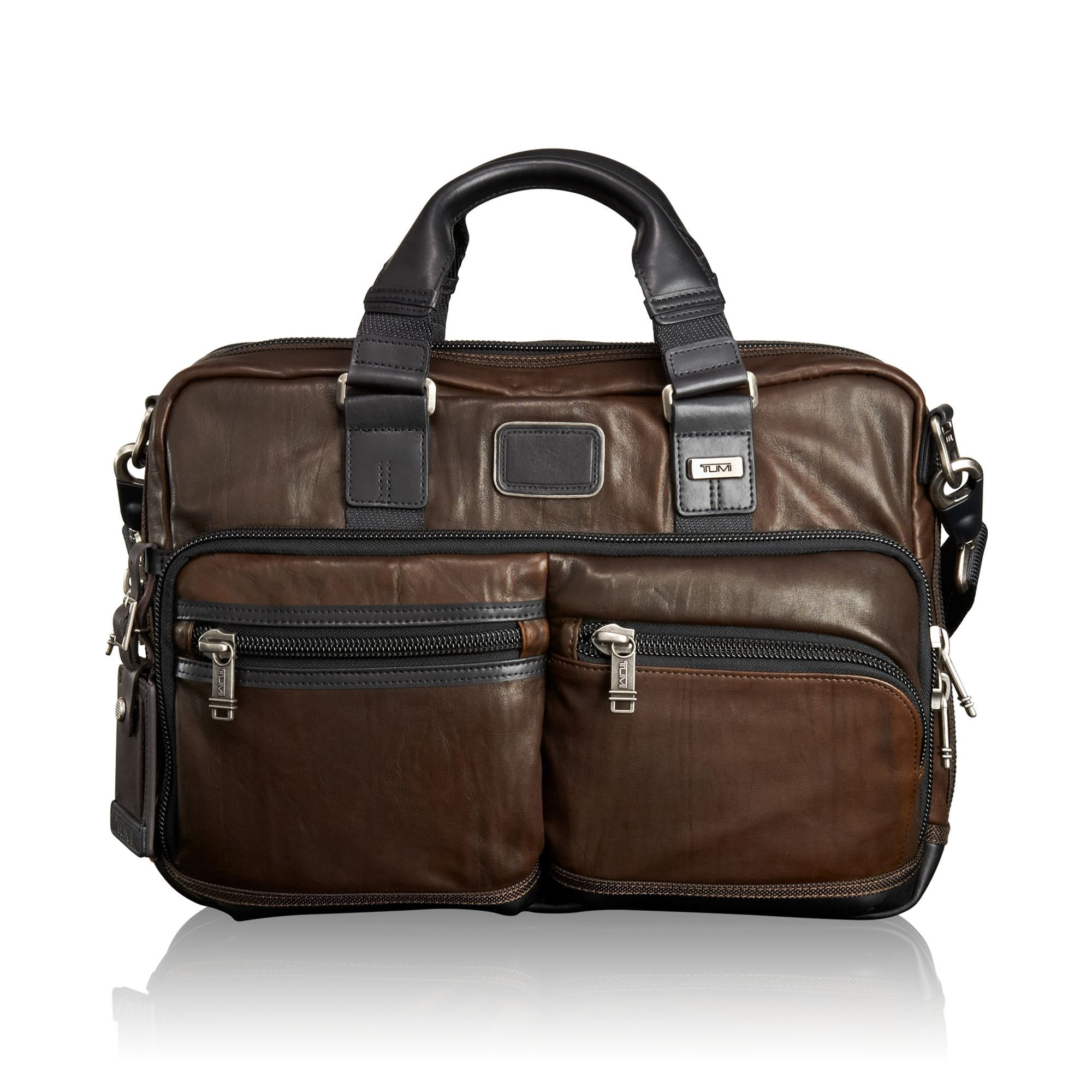 3d130a3186af TUMI Andersen Slim Commuter Leather Brief - Dark Brown. #tumi #bags ...
