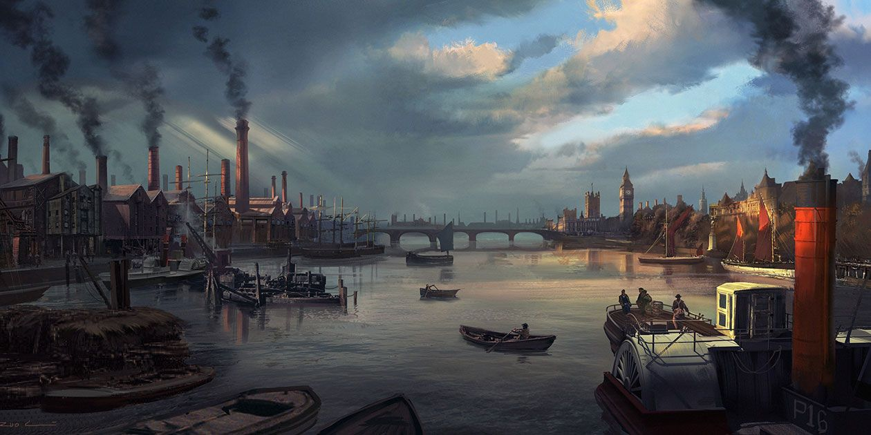 Thames River Characters Art Assassin S Creed Syndicate