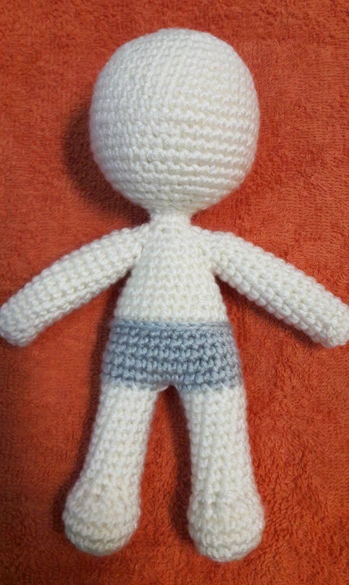 Boneca simples, simple doll. | tricô/ crochê | Pinterest | Muñeca ...
