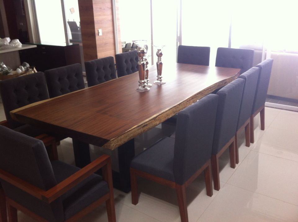 Comedor en plancha de parota muebles pinterest for Comedores de madera precios