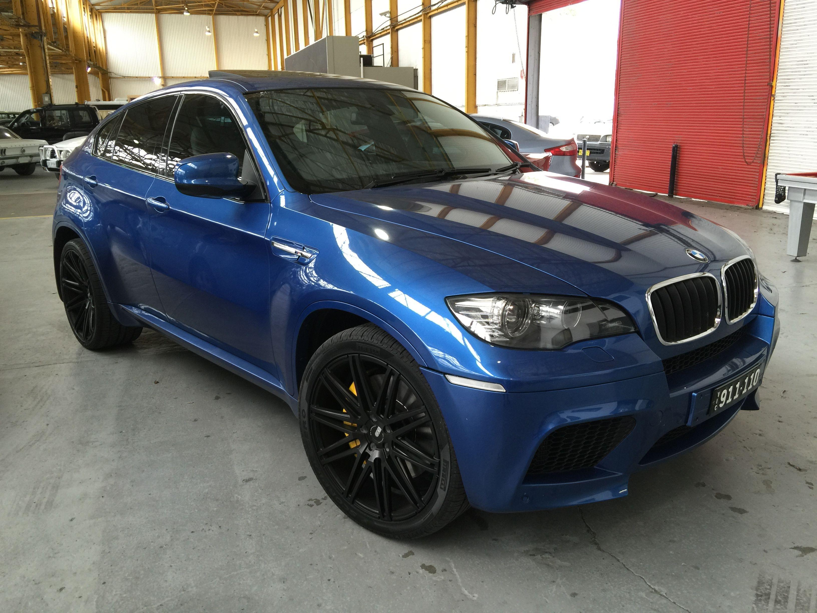 My New Toy Blue Bmw X6m X6 M Carbon Whataf Machine