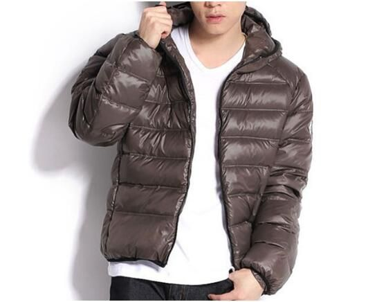 moncler mens brown jacket
