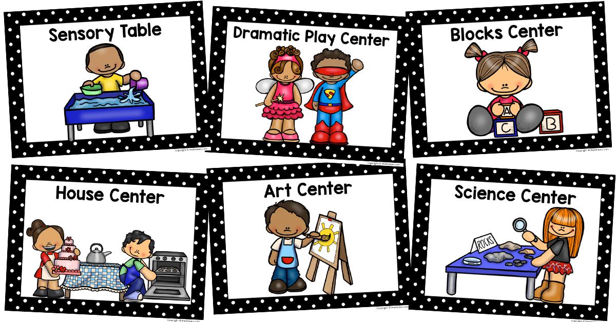 Center Signs | Kindergarten center signs, Preschool center ...