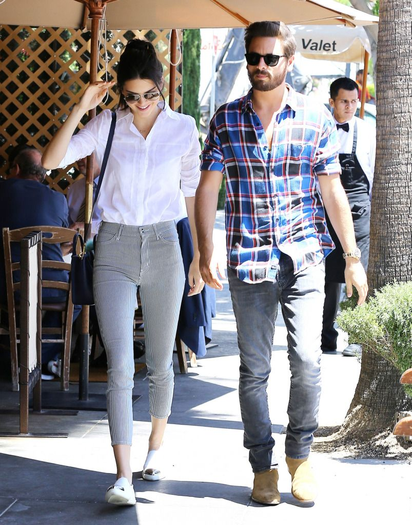 11576568922 Kendall Jenner Keeps Her Legs Closed While Out To Lunch With Sister s  Husband Scott Disick -