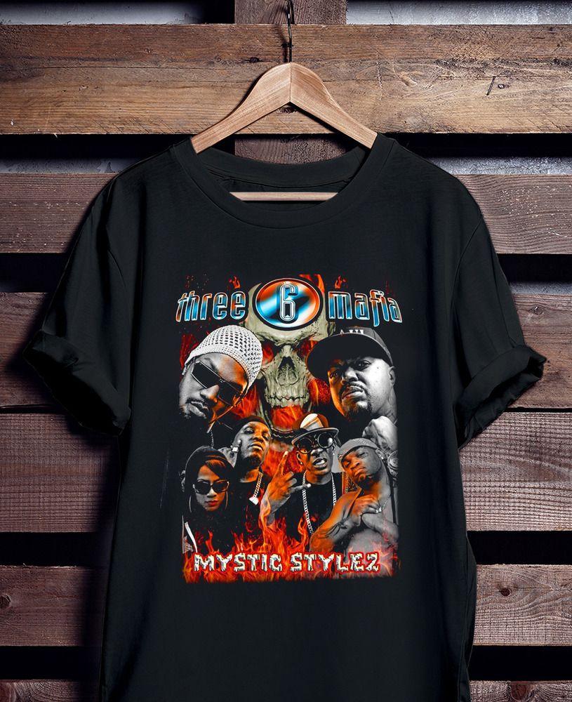 THREE 6 MAFIA MYSTIC STYLEZ Men/'s T shirt Black