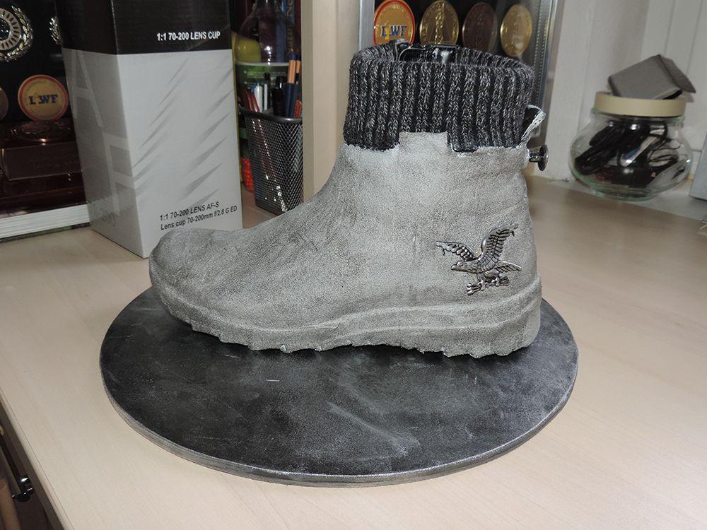 Betonfarbe Chaussures Mit Alter Schuh VeredeltAlte OiuXPZk