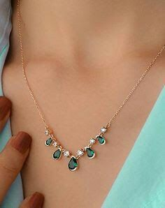 Emerald stone necklace designs - Latest Jewellery Design for Women   Men online - Jewellery Design Hub