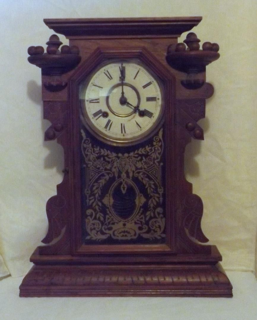 This is a waterbury wall clock good for parts with key pendulum waterbury wall clock for parts or repair it is missing the key to wind and amipublicfo Images