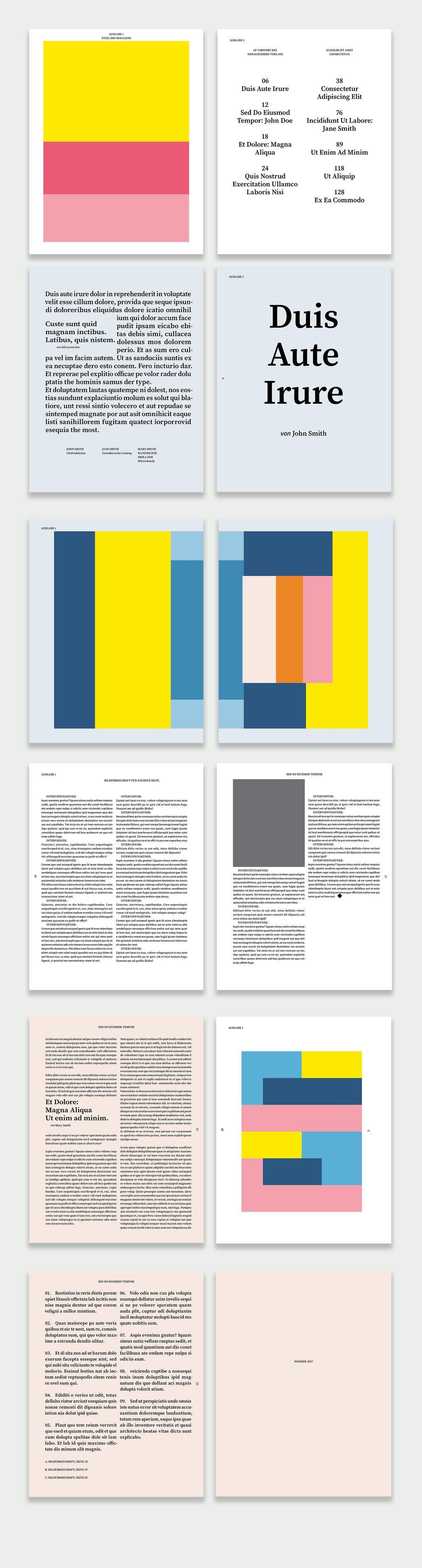 Kostenlose InDesign Vorlagen für Magazine | Kostenlos, Magazin und ...