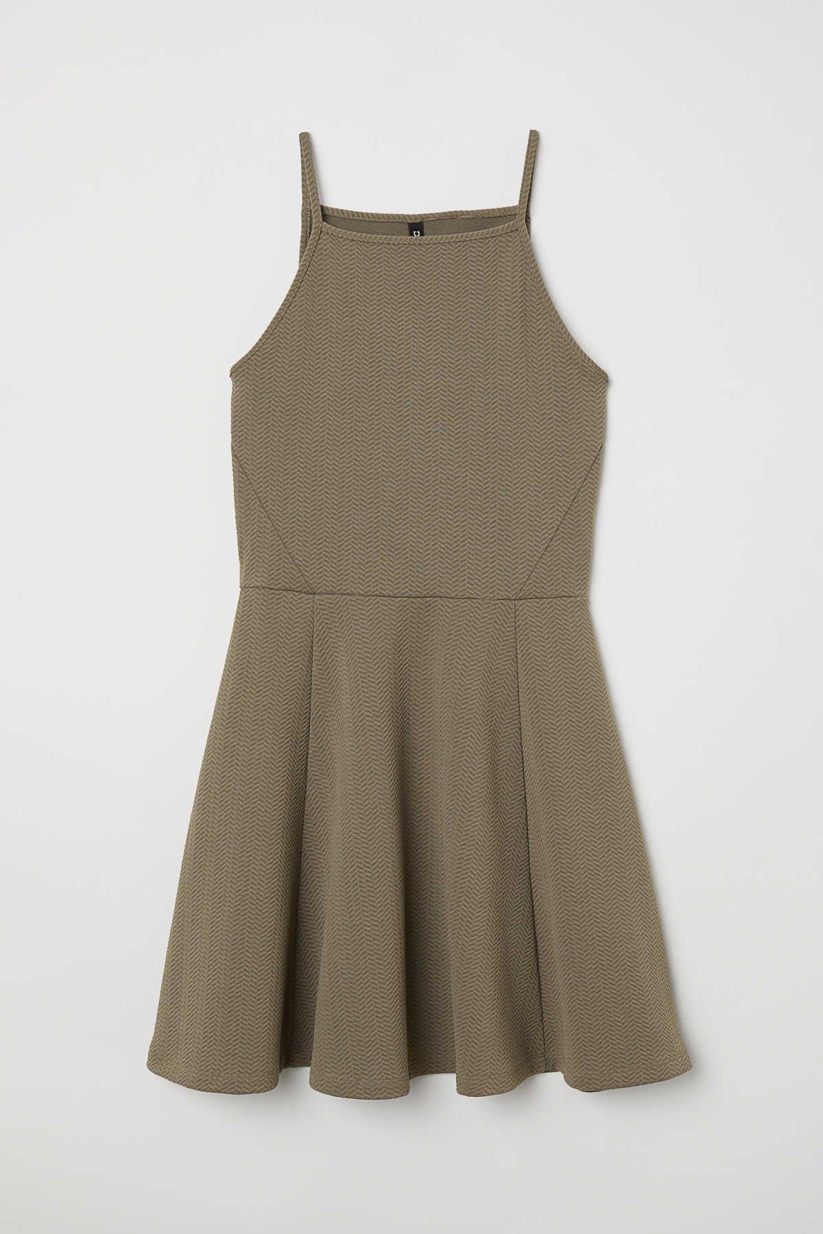 8b6bf0b54808 Jersey dress | Dark khaki green | LADIES | H&M AU | Dresses in 2019 ...