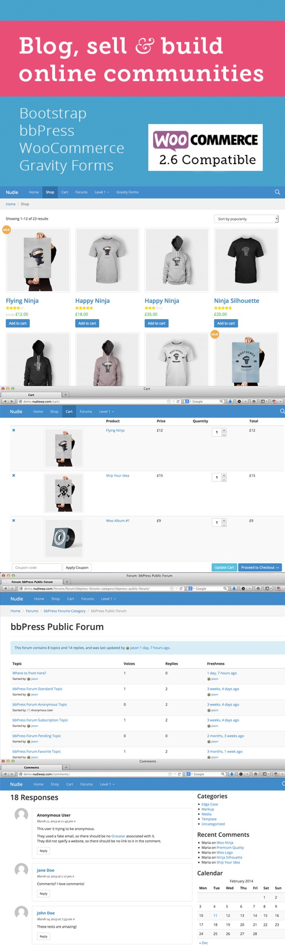 Nudie: WooCommerce + Bootstrap Theme. Bootstrap Templates. $55.00 ...
