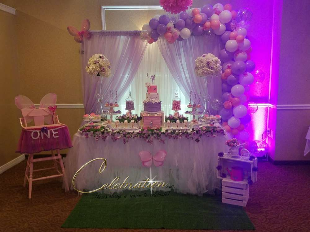 Fairy 1st Birthday Party Catchmyparty Com Princess Theme