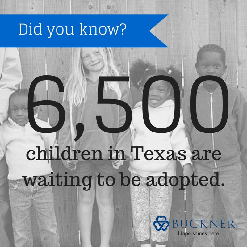 Did you know? 6,500 children in Texas are waiting to be