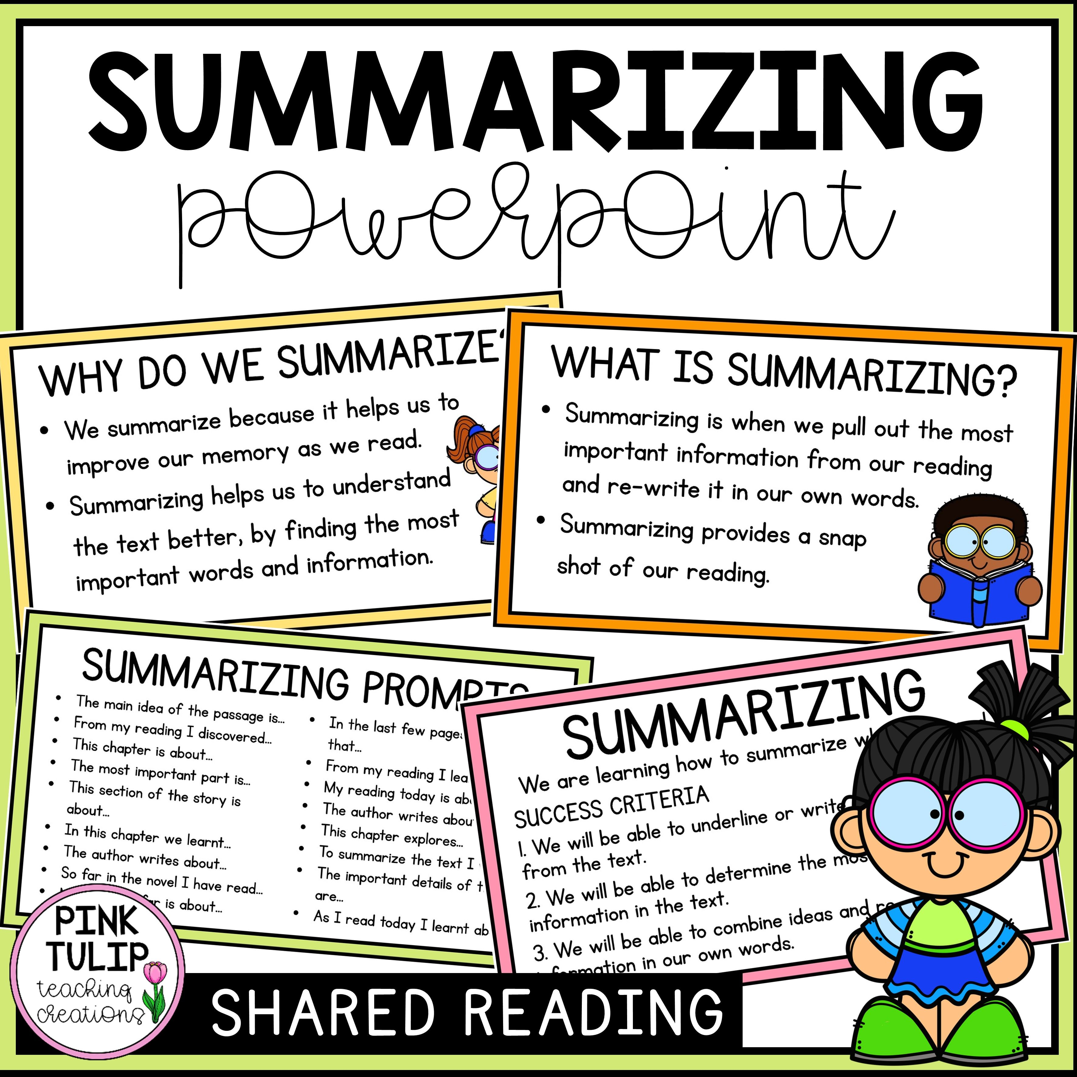 Reading Strategy Powerpoint Summarizing