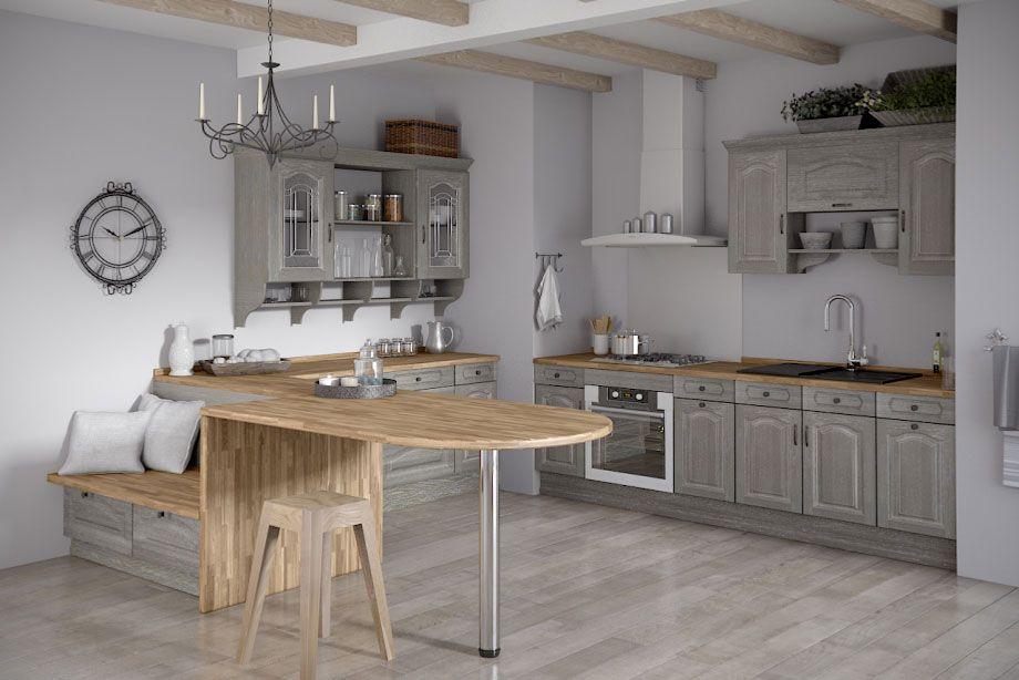 cuisine saveur gris patine blanc d233coration pinterest