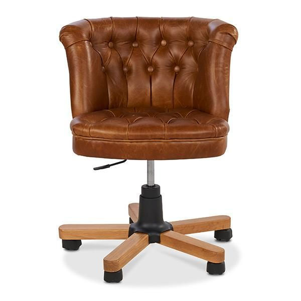 Parker Leather And Wool Office Chair